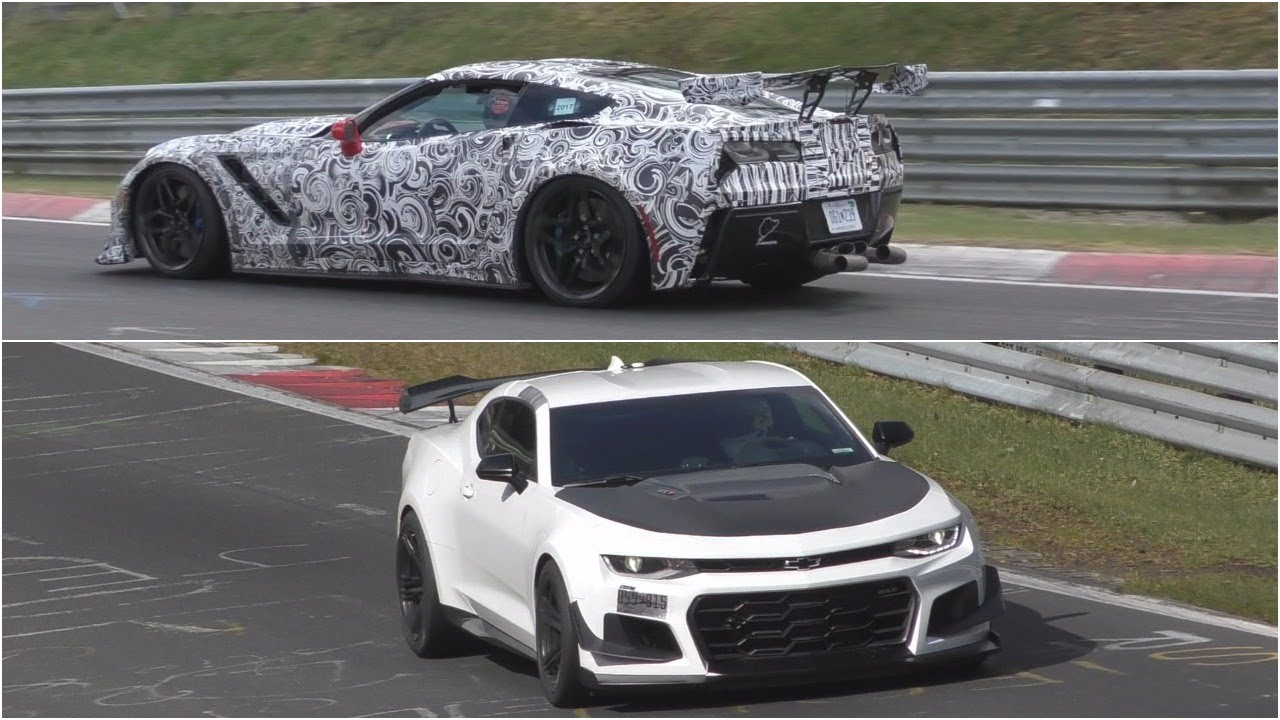 2018 Corvette Zr1 Vs 2018 Camaro Zl1 1le Sound Comparison Youtube