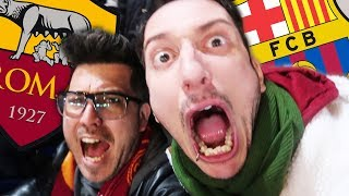 ROMA vs BARCELLONA 3 - 0 REACTION Champions DALLO STADIO OLIMPICO - w/insa - ilvostrocarodexter