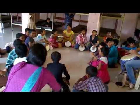 Drumbell @ Street Kids School Pune - Ganapati Bappa Moraya
