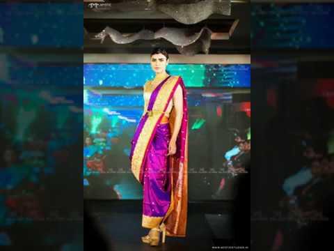 benares silk saree with gold zardosi embroidery blouse by top fashion designer in india tina vincent