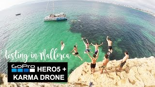 GoPro HERO5 + KARMA Drone testing in Mallorca