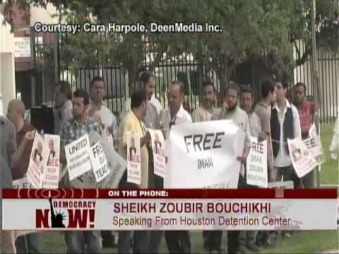 EXCLUSIVE: Jailed  Imam Zoubir Bouchikhi Speaks from Private Immigration Prison. 4/29/09 1 of 2