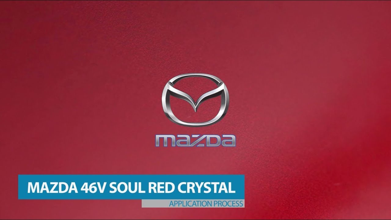 Ppg Repair Process For Mazda Paint Code 46v Soul Red Crystal Metallic