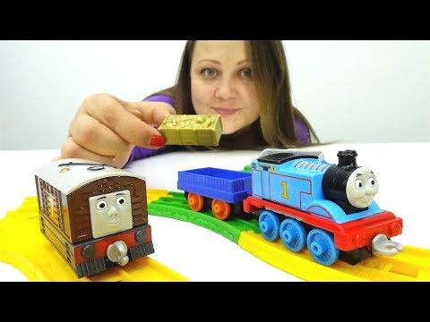 Игры для мальчиков. МУЛЬТИКИ ПРО ПАРОВОЗИКИ. #ПаровозикТомас и игрушечная железная дорога. СЮРПРИЗ!