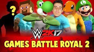 WWE 2k17 Games Battle Royal #2! With Minecraft, Pokemon Go, Denis & Yoshi!!