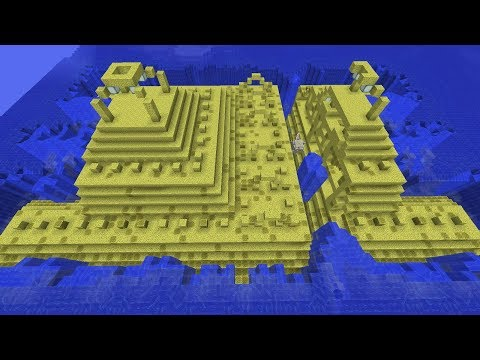 If Ocean Monuments Were Made of Sponges in Minecraft