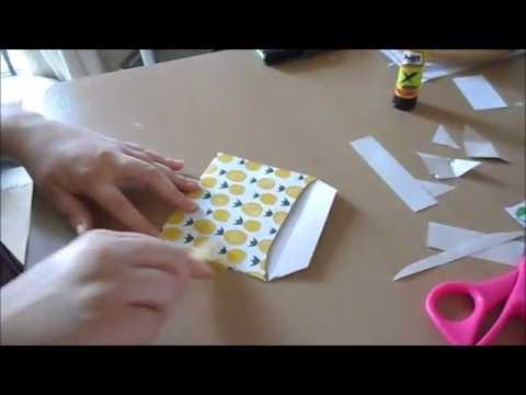 DIY envelope tutorial no measuring using three items! Paper, scissors, glue.