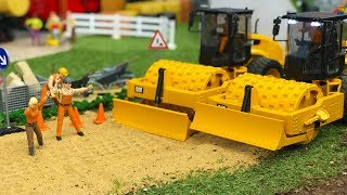 CONSTRUCTION TOYS for kids | Bruder toys RC truck soil compactor | Action cartoon for kids