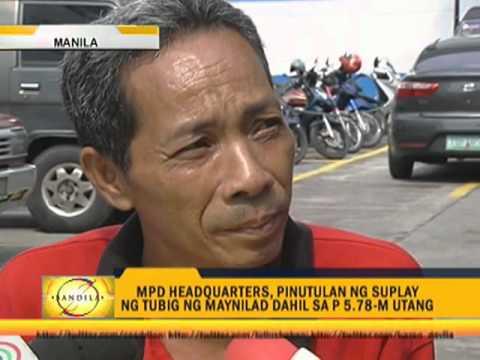 Manila police owe P5M to Maynilad
