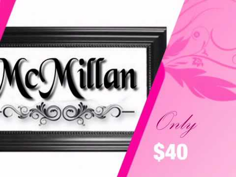Family Name Personalized Wall Sign - Great Wedding Gift