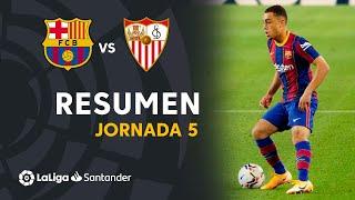 Resumen de FC Barcelona vs Sevilla FC (1-1)