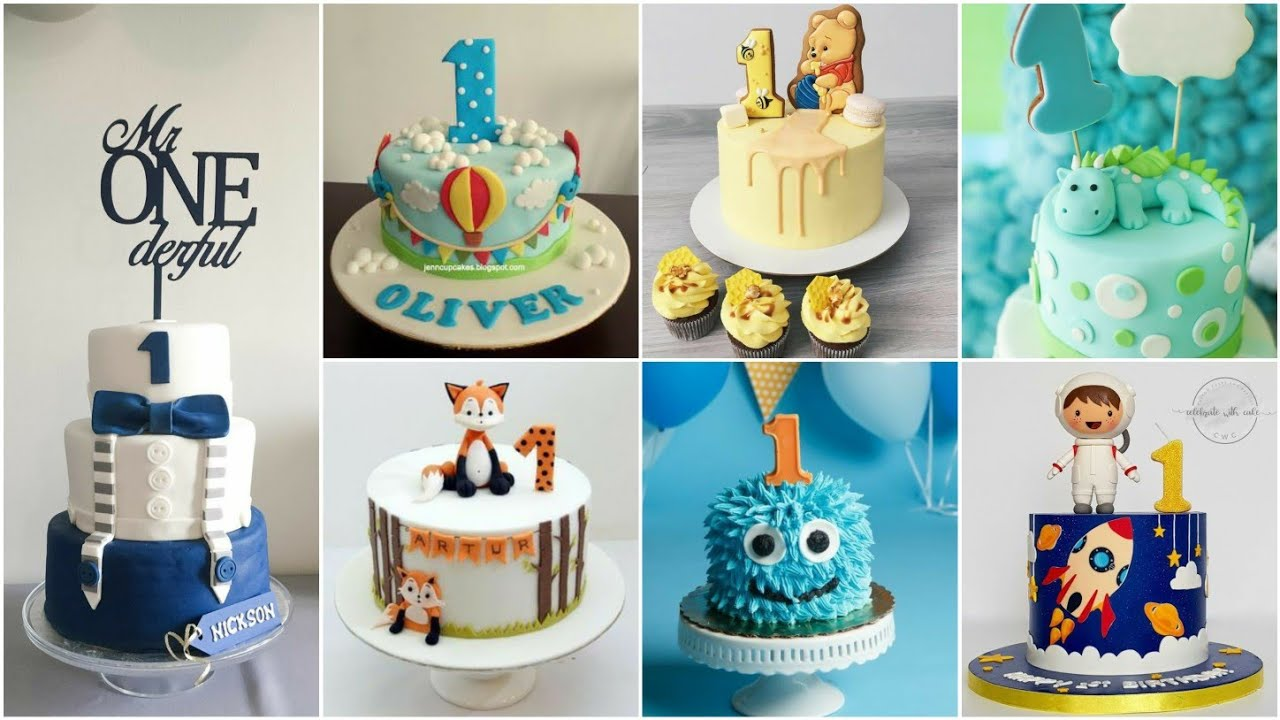 Baby Boy 1st Birthday Cake Design Ideas 1st Birthday Cake For Cute Baby Boy Crazy About Fashion Youtube
