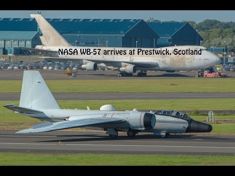 Martin B-57 Canberra (WB-57) landing at Prestwick, Scotland
