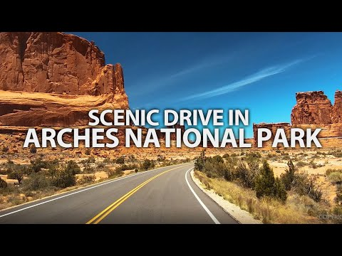 SCENIC DRIVE - Arches National Park, Utah, USA, Travel, Summer, Road Trip