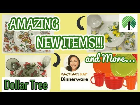 AMAZING NEW Items at the Dollar Tree  Dollar Tree Haul  Brand Name Dishware and more