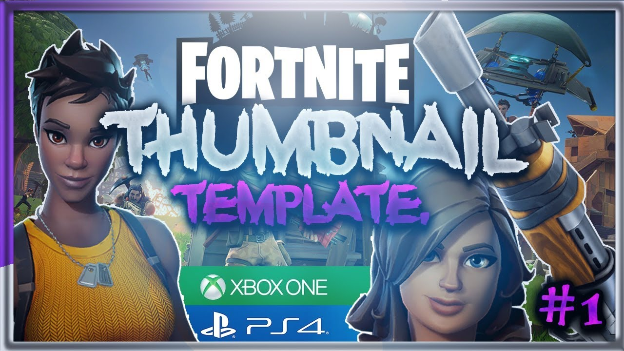 Fortnite Live Stream Thumbnail Template - Fortnite V Buck
