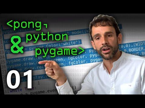 Pong, Python & PyGame Part 01 - Computerphile
