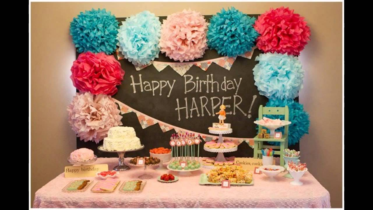 Unique 1st bday party decorations ideas YouTube
