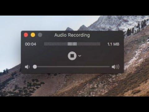 วิธีบันทึกเสียงใน Mac ด้วย Quicktime player