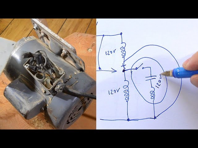 Rewiring A Motor From 240 Volts To 120 Volts Youtube