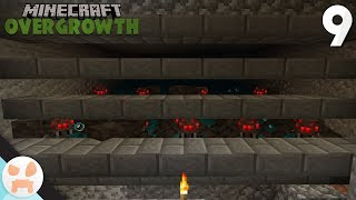SPIDER FARM! | Minecraft Overgrowth Episode 9 | Bedrock 1.8 Lets Play