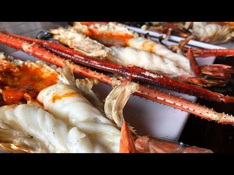 [泰国美食海鲜大餐对比EP106]最有名的巨头虾大餐Tanumkwan VS 海鲜大排档พ่อกำนัน 村长海鲜店