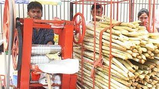 Sugarcane Juice - Benefits of Sugarcane Juice - Sugarcane Juice Machine - Simple Crafts Street Foods