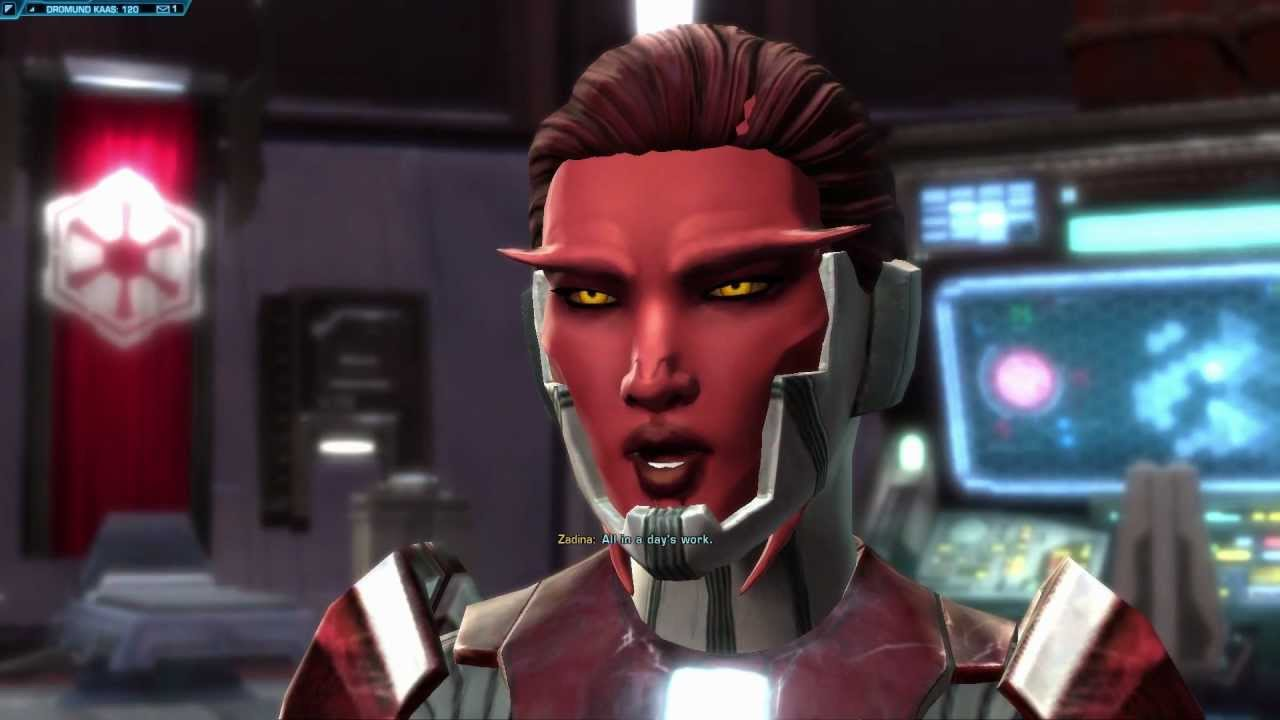So I recently made a female Sith Inquisitor and am ...