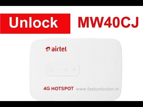 Unlock Airtel MW40CJ Wi Fi Router Alcatel...