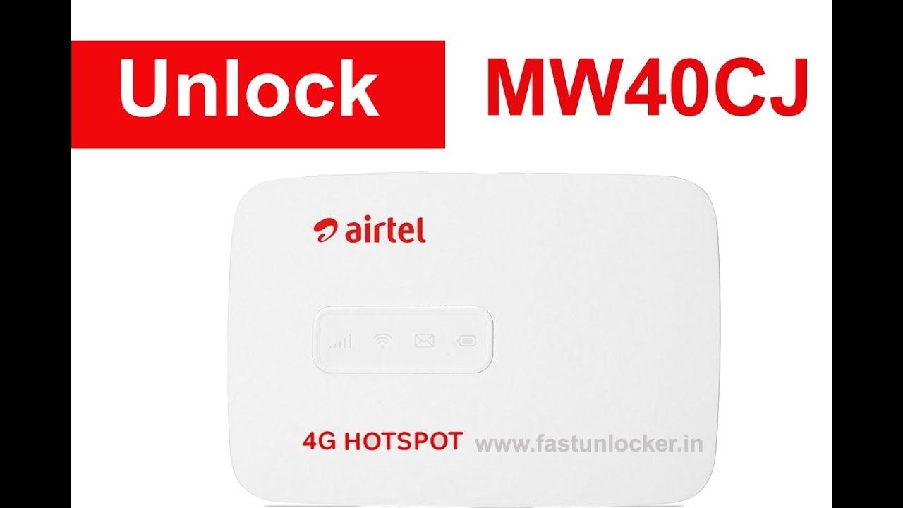Unlock Airtel MW40CJ Unlock Code Generator - 100% Tested & Unlocked