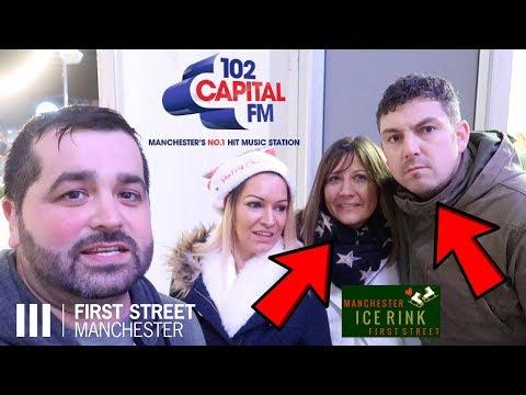 CAPITAL FM ICE SKATING MANCHESTER FIRST STREET ROB ELLIS