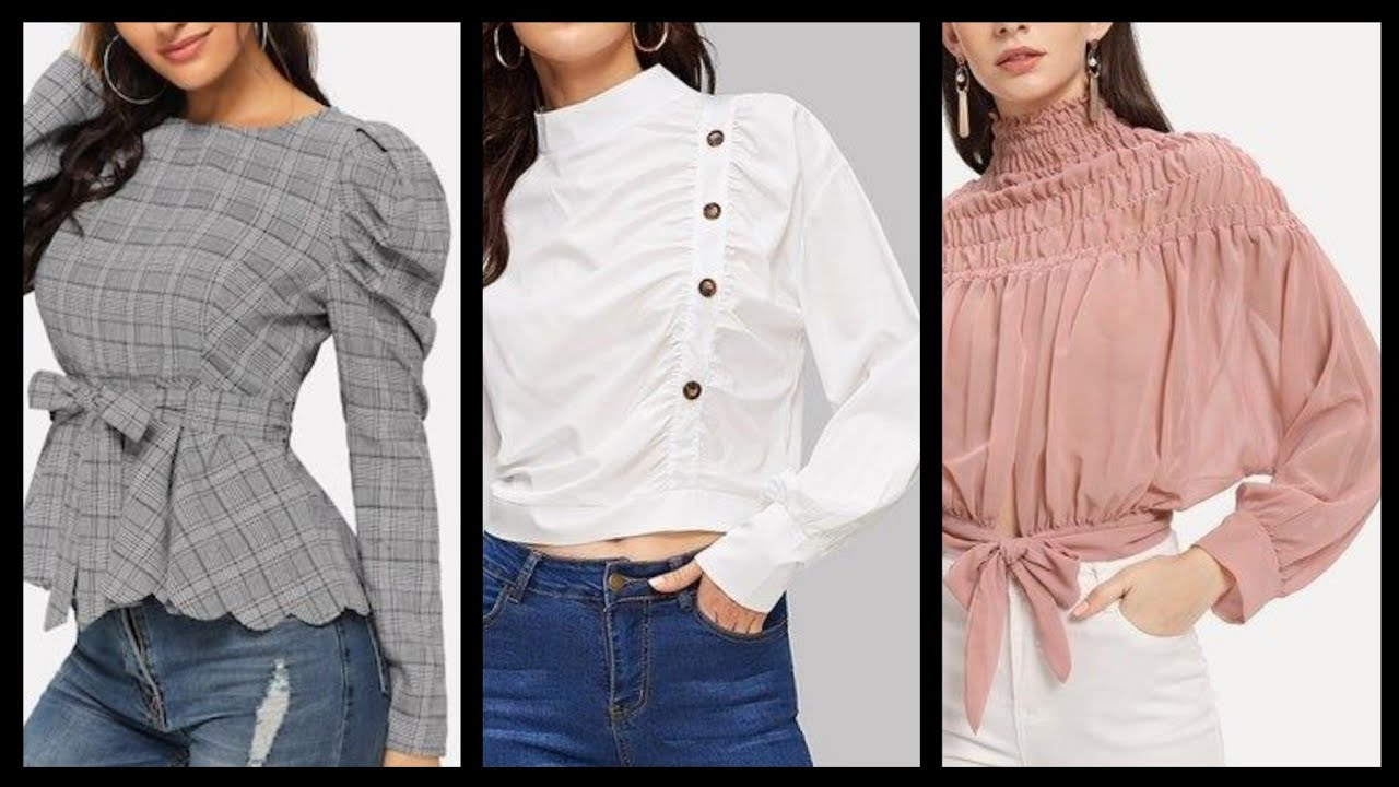 upcoming fashion of blouses tops sleeves and neck designs for women 2020 -  Blouses Neck Designs - YouTube