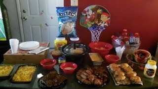 We Bleed Purple Around These Parts.... My Ravens Football Spread For Daddy!