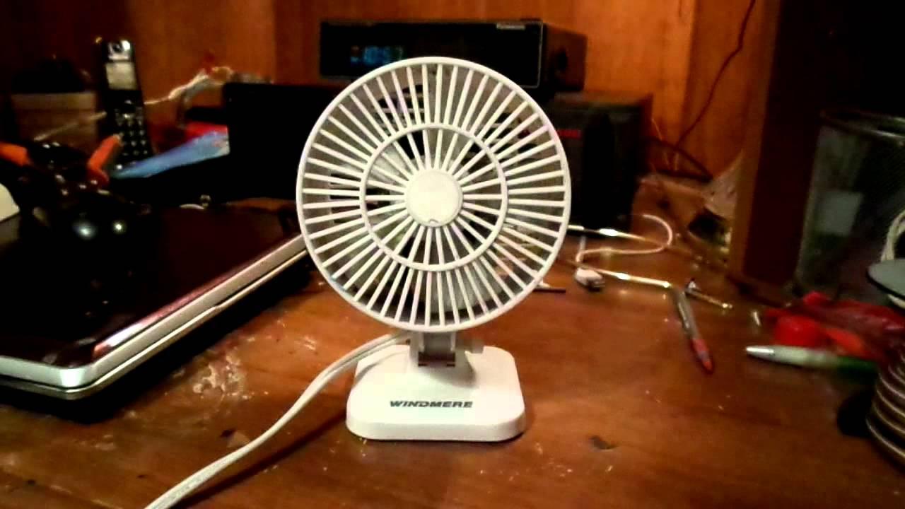 Windmere Desk Fan : S windmere desk fan model df youtube