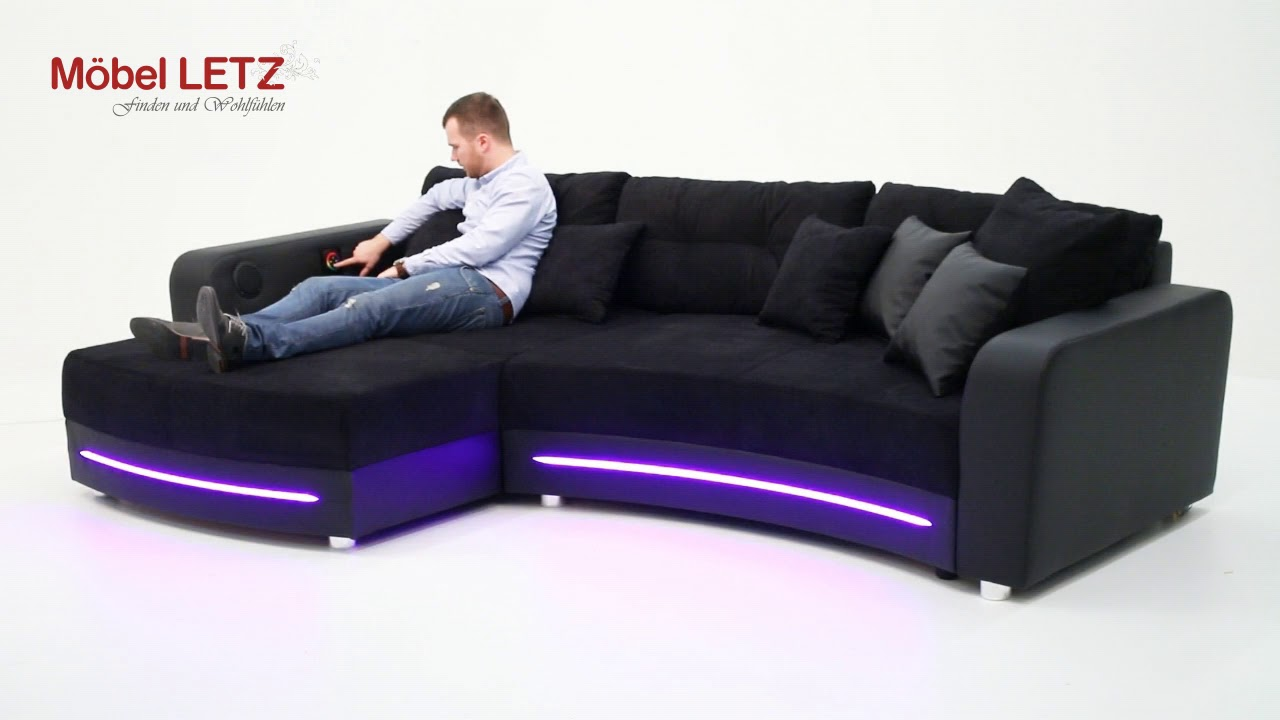 sofa mit led beleuchtung modern sofa bellagio led l shaped black white ebay led sofa sofa. Black Bedroom Furniture Sets. Home Design Ideas