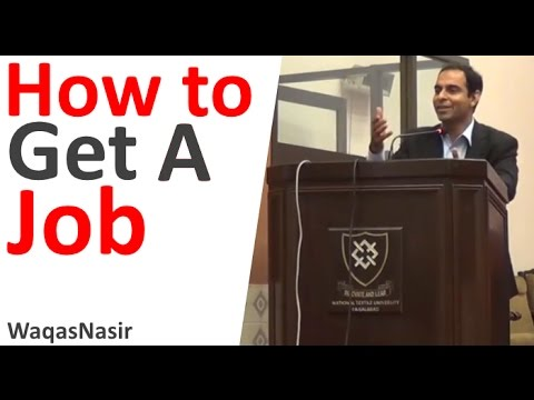 How Can I Get A Good Job With No Experience?  -By Qasim Ali Shah  | In Urdu