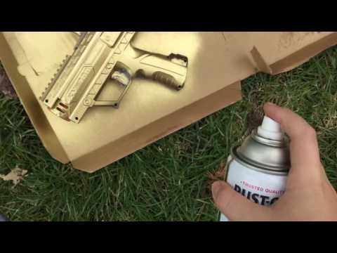 Spray Painting Nerf Rival Apollo Gold