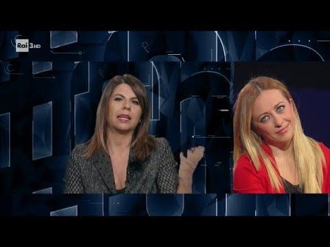 Geppi Cucciari e Giorgia Meloni - #cartabianca 07/11/2017
