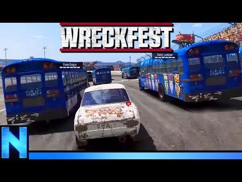 Tiny Car VS Army of Buses - WRECKFEST