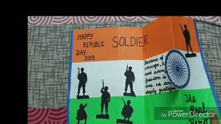 Attractive and easy Republic day card for soldiers.