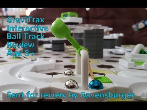 GraviTrax Interactive Ball Track System Review age 8+ Sent by Ravensburger