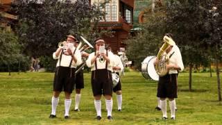 Bier hir. Баварское шоу. Музыканты в стиле Октоберфест. Bavarian band in Moscow