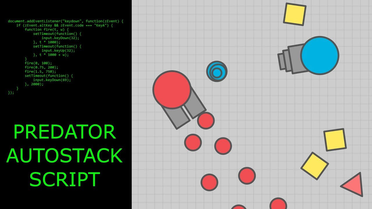 How to stack predators bullets using a script diep youtube how to stack predators bullets using a script diep ccuart Gallery