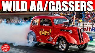 2015 Night Under Fire Ohio Outlaw AA/Gassers Beechcraft T-34B Mentor Nostalgia Drag Racing Videos