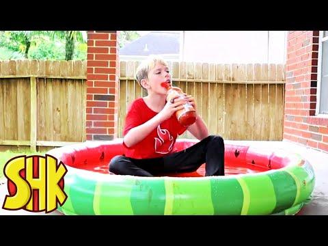 SuperHeroKids Hot Sauce Challenge | Funny Family Videos Compilation