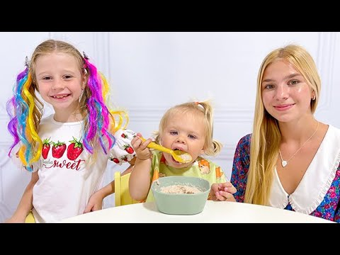 Download Nastya and Maggie try to be good babysitters