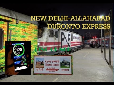 120KMPH FULL JOURNEY! New Delhi-Allahabad Duronto Express! Indian Railways