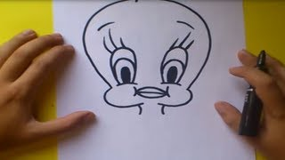 Como dibujar a Piolin paso a paso - Looney Tunes | How to draw Piolin - Looney Tunes