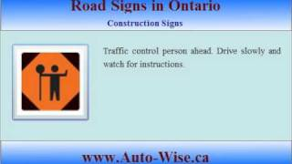 Ontario Driving Test G1 - Road Signs  - 3 (Construction Sign )