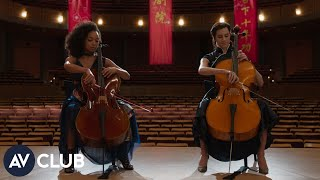 Allison Williams and Logan Browning on horror films and learning to play the cello for The Perfectio